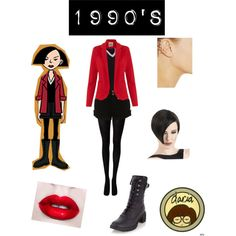 """Jane Lane- Daria Throwback"" by mindytx88 on Polyvore - Wonder what actress would play Jane in a live-action version of the show."