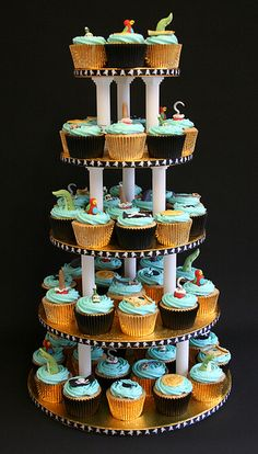 Pirate Cupcake Tower