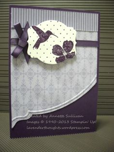 Wildflower Meadow Wisteria Eggplant by fauxme - Cards and Paper Crafts at Splitcoaststampers Bird Cards, Butterfly Cards, Flower Cards, Making Greeting Cards, Making Cards, Wild Flower Meadow, Craft Sites, Get Well Cards, Sympathy Cards