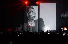 Janet Jackson State of the World tour stage backdrop