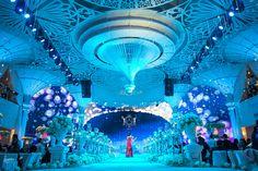 Stage | Angelic - Nam & Ngoc #misavuluxuryevents #MisaVu #Decorations #Angelic #Wedding #luxury #white #events #stage #aisle #architecture #party #weddingceremony