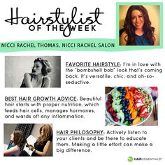 Today's amazing #HairstylistOfTheWeek is Nicole from Nicci Rachel Salon! Check out why we love her!
