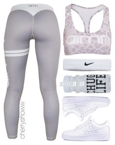"""Workout outfit"" by cherrysnoww ❤ liked on Polyvore featuring NIKE, Wet Seal, women's clothing, women, female, woman, misses and juniors"