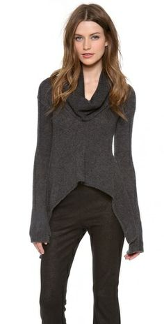 1d5b54c1467c Donna Karan New York Drape Collar Sweater Review Buy Now Ribbed Turtleneck,  Rolled Hem,