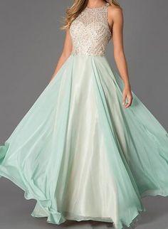 Charming Chiffon Prom Dress,Sexy Beading Evening Dress,Sexy Sleeveless Prom Dress,Floor Length Evening Dress