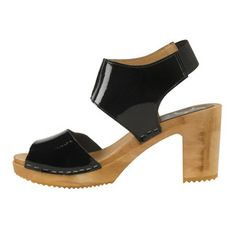 Mademoiselle Clog Patent Black, $89, now featured on Fab.