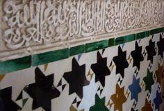 Alicatado con forma de estrella musulmana #Alhambra #Granada