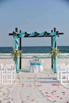 Beach Wedding Decor and Decorations : Gulf Shores Weddings on the Beach : BigDayWeddings.net