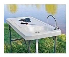 Outdoor Sink Station Garden Kitchen Utility Portable Clean Fillet Fish Table  #OutdoorSinkStation