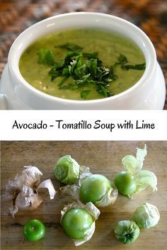"""Chilled soups are my secret weapon for summer entertaining. Make them ahead of time, they wait patiently in the fridge, serve in a beautiful bowl, garnish and serve. If you think guacamole is a hit, try my Avocado-Tomatillo Soup with Lime!  <a href=""""https://www.monicastable.com/avocado-tomatillo-soup-with-lime/"""" rel=""""nofollow"""" target=""""_blank"""">www.monicastable....</a>"""