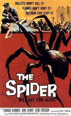 1950s Sci-Fi B-movies | EARTH VS THE SPIDER THE SPIDER - 1950s b movie posters wallpaper image