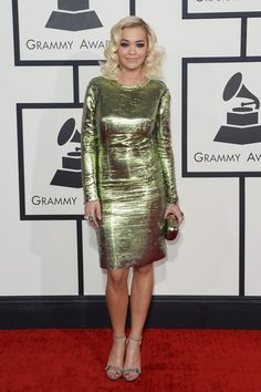 Rita Ora | Fashion On The 2014 Grammy Awards Red Carpet