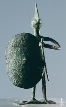Warrior, bronze statuette from the western Necropolis of Scolo di Lozzo (Veneto). Etruscan civilization, 6th Century BC.
