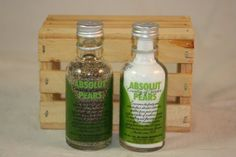 Glass Salt & Pepper Shakers Upcycled from by CountryRichDesigns