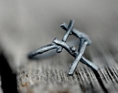 INGUZ Rune Ring sterling silver twigs True Love by redsofa