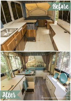 Pop Up Camper Makeover Ideas. If you wish to stay informed about our camper remodel, take a look here. Before you set your camper away for the season, you're want to take precautio. Popup Camper Remodel, Camper Renovation, Camper Remodeling, Kitchen Remodeling, Remodel Caravane, Camping Vintage, Vintage Rv, Vintage Campers, Vintage Motorhome