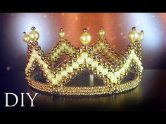 DIY: Royal crown of beads 👑 Bead Crafts, Diy And Crafts, Free Beading Tutorials, Crown Royal, Beaded Embroidery, Beaded Jewelry, Jewelery, Jewelry Making, Beads