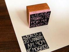 Custom Return Address Stamp 1.5 inch Square by KelseyPike on Etsy