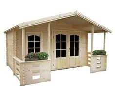 Caseta madera de 15,8 m2 LOUVIGNE 398X248CM Ref.15326703  Caseta de 15,8 m2 fabricada en madera. Amplia y luminosa gracias a sus dos ventana...