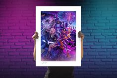 DC Comics Birds of Prey Fine Art Print by John Keaveney. | Sideshow Fine Art Prints Embossed Seal, Dc Comics Art, Sideshow Collectibles, Paper Frames, Birds Of Prey, Comic Art, Giclee Print, Fine Art Prints, Illustration