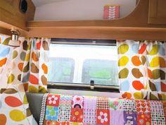 Inside our caravan Daisy