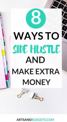 Looking for ways to make extra money? In this post, I share 8 different ways I make extra money each month working from home.- side hustles, work from home, SAHM, ways to make extra money, blogging, survey sites, focus groups,  side hustle, side hustles,