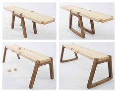 TWIN is a modular wooden bench designed by Andrea Rekalidis that can easily transform into different configurations depending on your style and use.