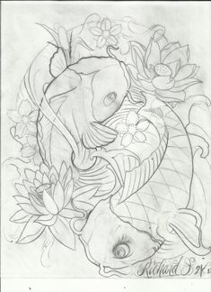 koi fish tattoo photo by Koi Tattoo Design, Pisces Tattoo Designs, Koy Fish Drawing, Fish Drawings, Dibujos Tattoo, Desenho Tattoo, Coy Fish Tattoos, Body Art Tattoos, Pices Tattoo