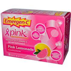 Emergen-C, ピンク, 1,000 mg ビタミンC, ピンクレモネード, 30 袋入り, 各9.9 g