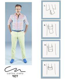 Si desea recoger los puños de la camisa siga estos pasos:       #TipsCN #Sleeve #Cuff