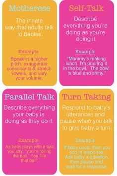 Language learning guide for early intervention to send home with parents. speech