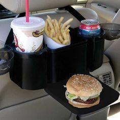 Auto Back Seat Organizer Car Tray Holder Pocket Travel Storage Drink Food Trip Cool Gadgets To Buy, Car Gadgets, Geek Gadgets, Car Seat Organizer, Car Organizers, Bibliotheque Design, Girly Car, Tray Styling, Car Essentials