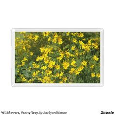 Wildflowers, Vanity Tray. Rectangle Serving Trays