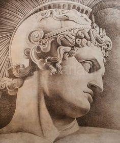 'Condottiero argento' Authentic giclée reproduction produced in a numbered series through a unique technique Pieta Statue, Soldier Tattoo, Sculpture Art, Sculptures, Greek Soldier, Blackwork, Religious Tattoos, Classic Portraits, Academic Art