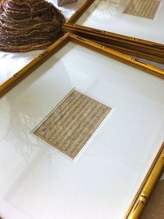 Framing a small but special document with extra wide matting (this is an old piece of sheet music)