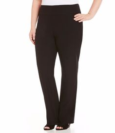 NWT Eileen Fisher Plus Washable Stretch Crepe Black Boot Cut Pants 1X #EileenFisher #CasualPants