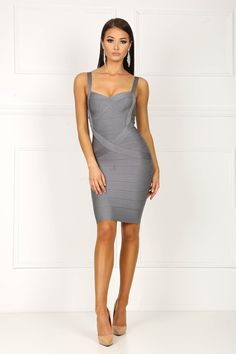 Becky's Boutiques provide excellent customer service and the latest in fashion like Aileen Bandage Dress grey and party dress to women of all ages.