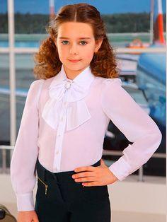 Блузки для девочек (61 фото): детские нарядные и молодежные модели, модные блузы 2017