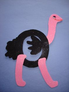 "letter Oo preschool activities | Letter ""O"" Ostrich"