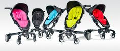 Orbit Baby Drive and Stroll. Has a 360 swivel seat.