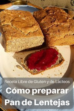 Aprende a preparar este delicioso pan libre de gluten y de lácteos, hecho con harina de lentejas #Receta