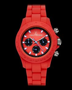 His and hers red #ToyWatch . Get your #valentine the perfect #gift the VELVETY CHRONO RED #Date #Valentine #Present #Watch #Red #Chic #Bright http://toywatchofficial.com/us_en/collections/velvety/velvety-chrono-red