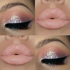 #MakeupTutorialStepByStep Makeup Eye Looks, Cute Makeup, Gorgeous Makeup, Pretty Makeup, Awesome Makeup, Perfect Makeup, Glitter Eye Makeup, Lip Makeup, Beauty Makeup