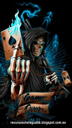 The Reaper Of Death. Tatuaje Grim Reaper, Grim Reaper Art, Grim Reaper Tattoo, Don't Fear The Reaper, Reaper Game, Totenkopf Tattoos, Dark Fantasy Art, Dark Art, Skull Art