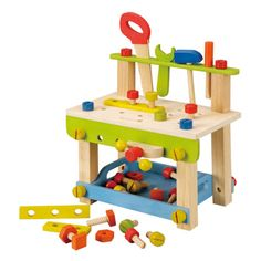 Die Holz-Werkbank erfüllt kleine Handwerkerträume. #Werkbank von EverEarth mit Zubehör | Babyartikel.de #Spielzeug #Kleinkinder