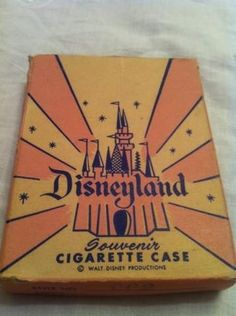 Vintage Disney Disneyland Cigarette Case Souvenir Sleeping Beauty Castle ~What every child needs for a souvenir from Disneyland! Retro Disney, Old Disney, Disney Toys, Disney Magic, Disney Art, Disney Movies, Vintage Disneyland, Disneyland History, Sleeping Beauty Castle