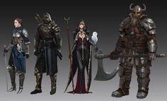 Dark Assassin by Kim Eun Chul on ArtStation. Rogue Character, Character Design Girl, Character Design References, Character Concept, Concept Art, Fantasy Figures, Fantasy Characters, Fantasy Art, Fantasy Inspiration