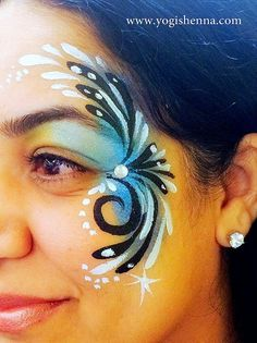 Adult Face Painting Design Idea