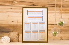 This table plan is on a white board with each table fully mounted onto the board in the Bilssful Bow design.    The A2 board can take up to 6 tables + a Top Table and Header - £90  The A1 Board can take up to 12 tables + a Top Table and Header - £130