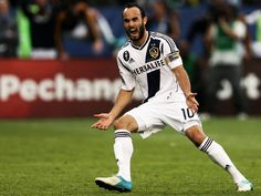 Landon Donovan of Los Angeles Galaxy reacts after scoring on a penalty kick in the second half against the Houston Dynamo in the 2012 MLS Cup at The Home Depot Center on December 2012 in Carson, California. Landon Donovan, Mls Cup, Penalty Kick, Galaxy Photos, Houston Dynamo, Mls Soccer, Professional Soccer, Soccer Players, American Football